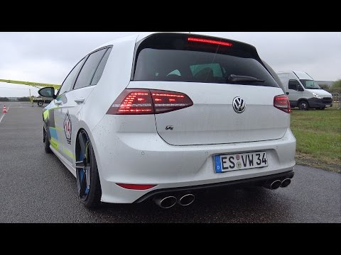 Vw Golf 7 R Tte525r Turbocharger Revs Drag Racing Youtube