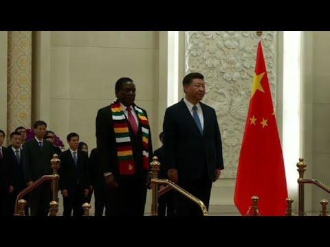 Zimbabwe's Mnangagwa meets Xi Jinping in Beijing