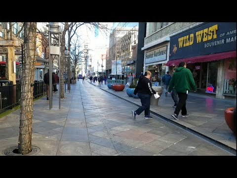 Denver, CO 16th Street Mall Downtown + Union Station Winter Walk - 2017 4K UHD