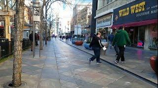 Denver, CO 16th Street Mall Downtown + Union Station Winter Walk - 2017 4K UHD