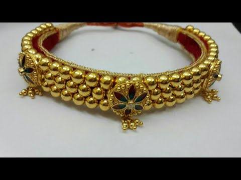 Thusi Design ठ स ड ज इन Rajasthani Jewellery Marathi Gold क Kanthi Desi