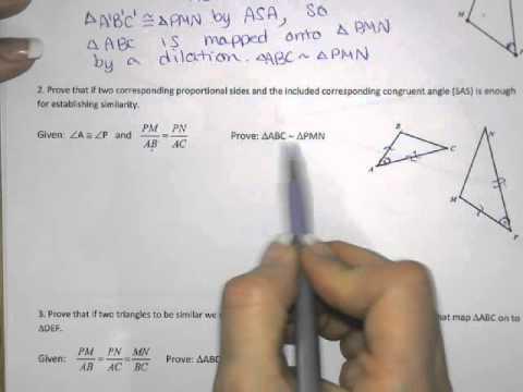 G SRT 3 wksht 1 homework - YouTube