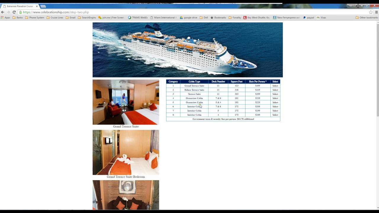 Video Tutorial Booking And Checking Prices For Night Cruise - Bahamas cruise prices