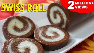 No Bake Swiss Roll / Cookies | Quick Easy Chocolate Recipe | Easy Dessert Recipes | Kanak's Kitchen