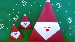 Easy Origami Santa Claus For Christmas (difficulty 3/10) 折り紙サンタクロース