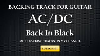 Backing Track  ACDC BACK IN BLACK guitarra pista de acompañamiento