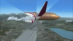 FSX vol VFR Genève-Munich  Boeing 737