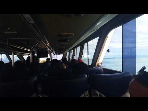 On the Glory Express Fast Boat to Lembongan from Sanur, Bali, Indonesia