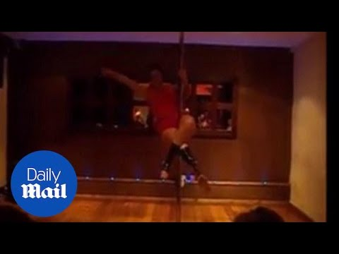 Watch as this amputee dancer gets to grip with the pole - Daily Mail