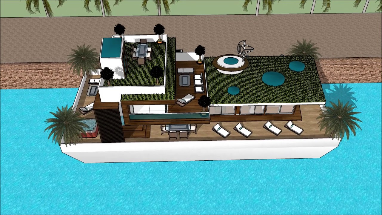 sims epic house japanese house style living luxury houseboat rh youtube com  houseboat rob's boathouse in a picturesque area