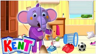 Clean Your Room With Kent | Kids Songs And More | Kent The Elephant
