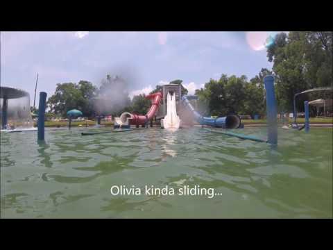 Burgers Lake Ft Worth TX White Slide Fun