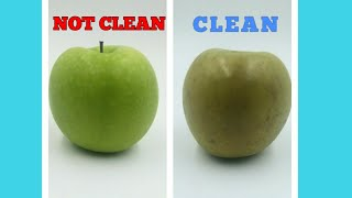 HOW TO REMOVE WAX FROM YOUR APPLES  CLEANING METHOD (UPDATED)