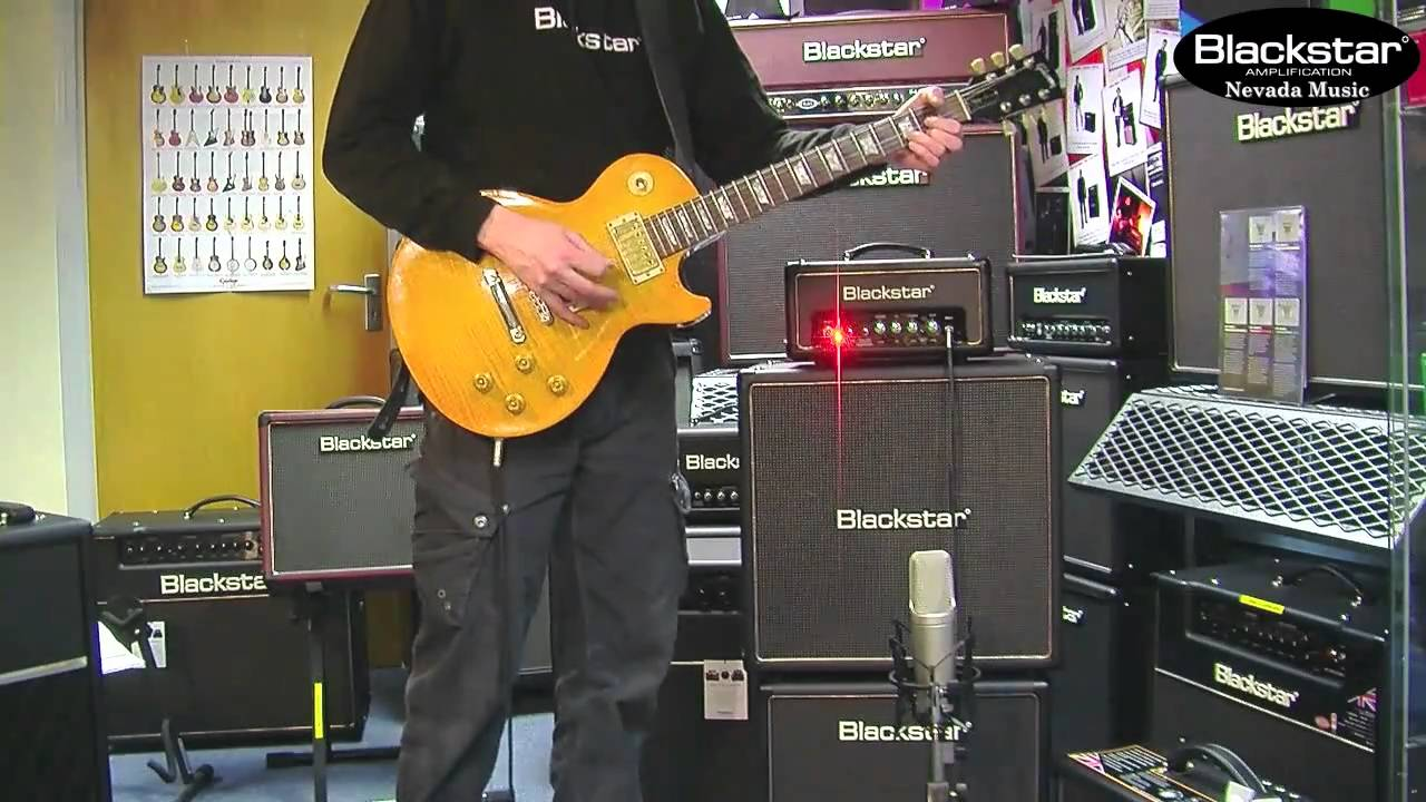 Blackstar HT408 Extension Cab demo with a HT1R Head - Drew - YouTube