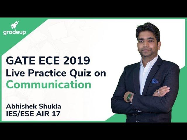 GATE ECE 2019 | Communication | Live Practice Quiz #6