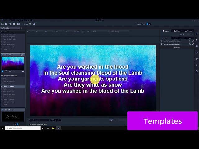 MediaShout 7 - Templates
