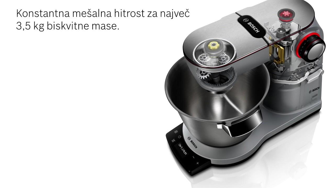 Kuhinjski aparat Bosch OptiMUM - močan motor in pametni senzor za testo 1b792d0d5b80