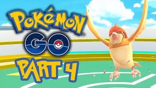 Pokemon GO Gameplay Walkthrough Part 4 - GYM BATTLES & FIRST EVOLUTION