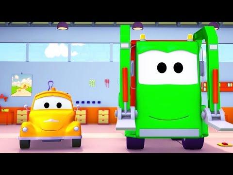 Çöp kamyonu ve Çekici Tom | Araba ve Kamyon inşaat çizgi filmi (çocuklar için)