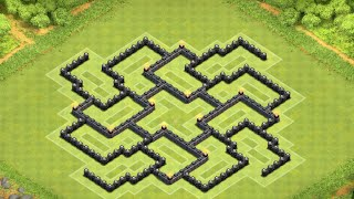 CLASH OF CLANS TH8 FARMING BASE / TOWN HALL 8 EXTREME LOOT DEFENSE 2015