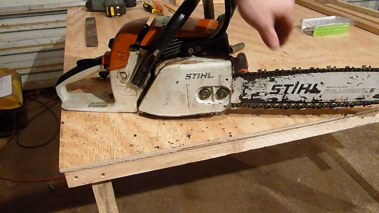 Replacing the chain sprocket on a stihl chainsaw youtube greentooth Choice Image