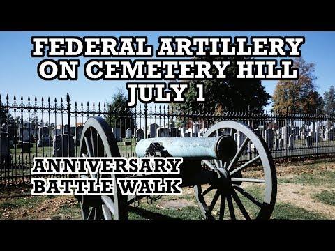 Artillery on Cemetery Hill on July 1st - Anniversary Battle Walk with Ranger Bert Barnett