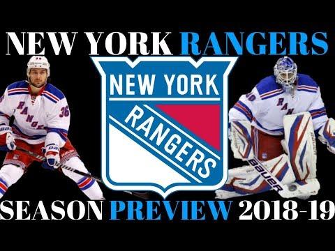 NHL Season Preview 2018-19 New York Rangers