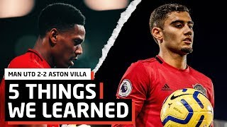 Is Ole To Blame?   Manchester United 2-2 Aston Villa   5 Things We Learned