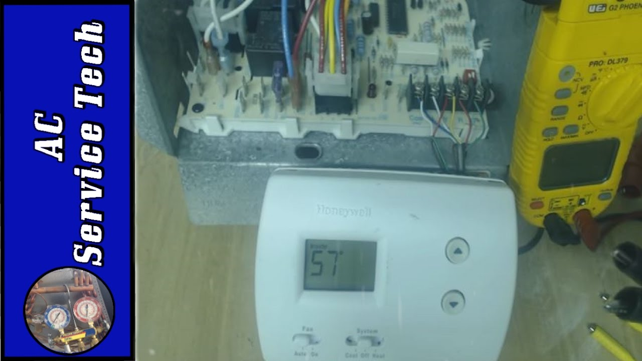 hvac wiring diagram thermostat amana ptac unit bypass the for testing of furnace and ac units