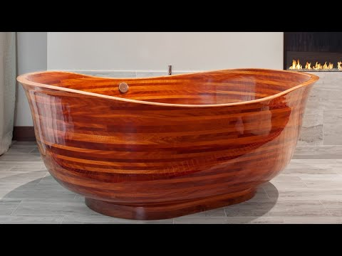 Imagine relaxing in a $40,000 wooden bathtub, handmade in South Seattle - KING 5 Evening