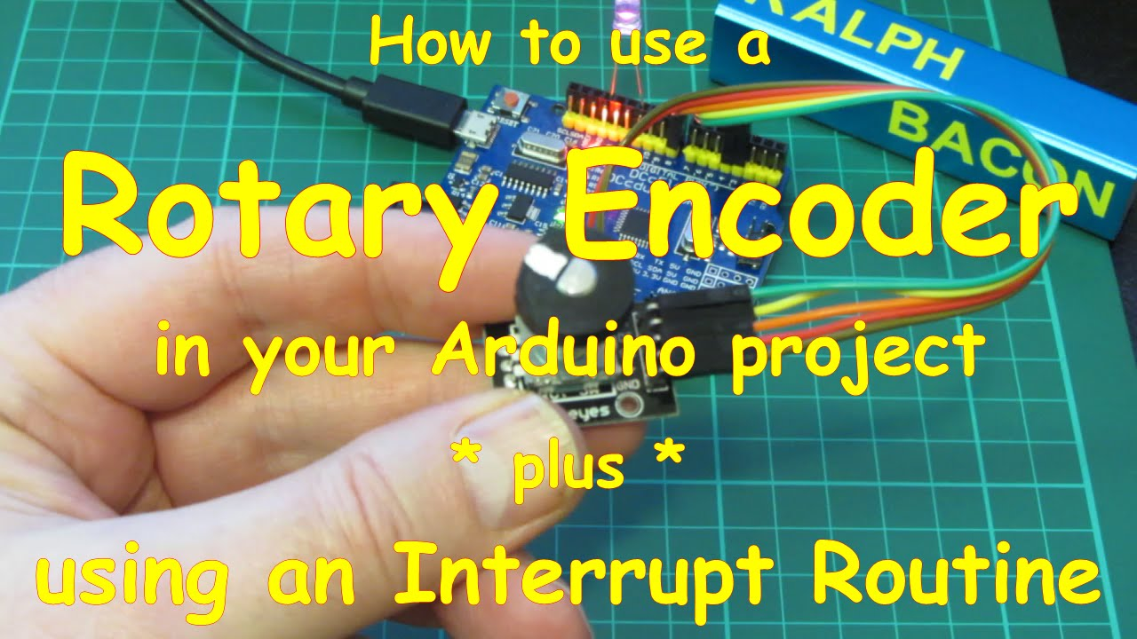 #19 How to use a Rotary Encoder with an Interrupt routine on your Arduino