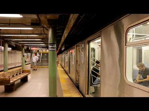 NYC Subway: Late Night Trains in Downtown Brooklyn