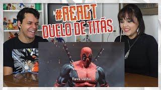 React Homem-aranha Vs. Batman  Duelo De Tit�s Part. Tauz 7 Minutoz