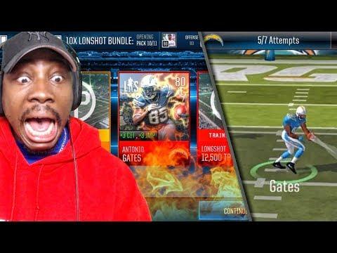 ANTONIO GATES LONGSHOT EVENTS & PACK OPENING! Madden Mobile 18 Gameplay Ep. 10