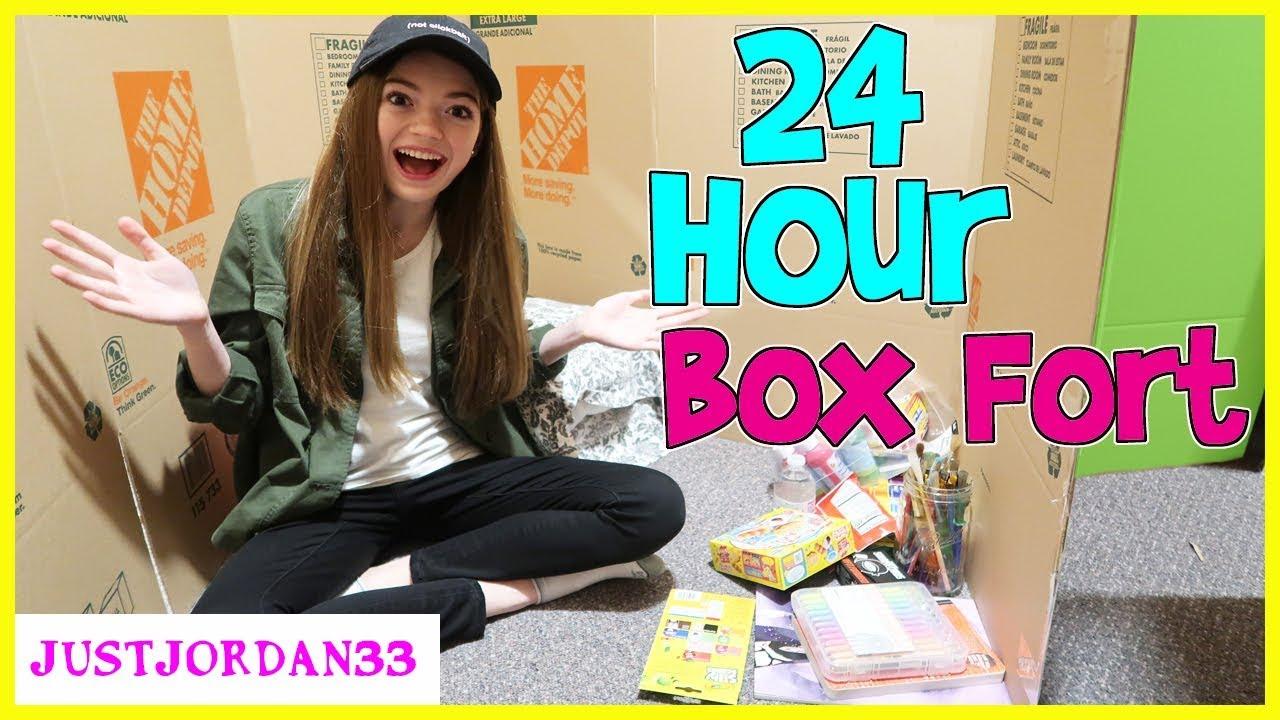 Download 24 Hour Overnight In Huge Box Fort / JustJordan33
