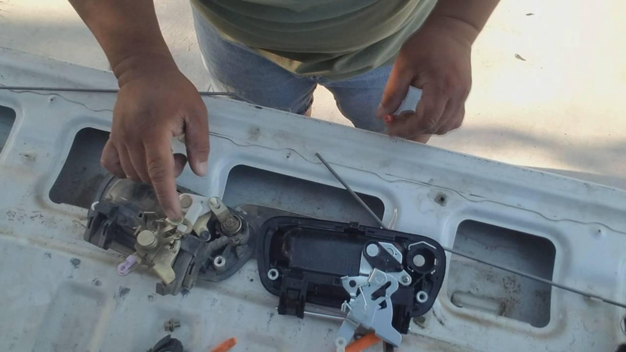Tundra Tail Gate Latch Repair Youtube