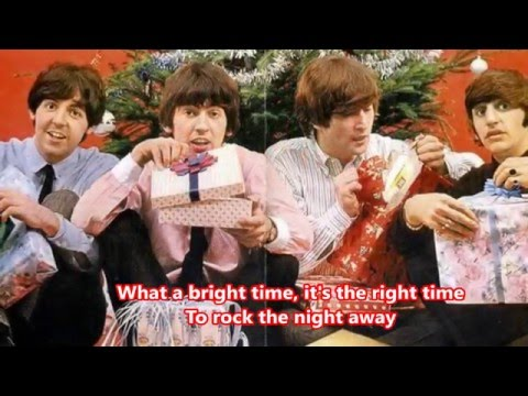 JINGLE BELLS ROCK (with lyrics) -Cover- THE RUBBER BAND (BEATLE STYLE)