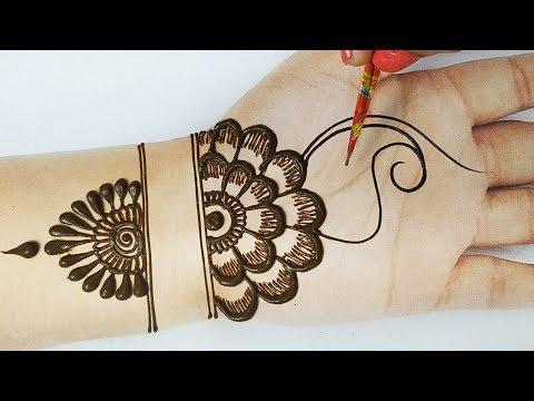 आसान मेहँदी डिज़ाइन - दिवाली स्पेशल गोल टिक्की शेडेड मेहँदी - Latest Shaded Diwali Mehndi Design 2019