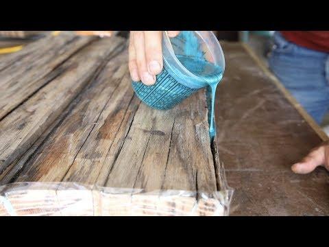diy farmhouse dining table w epoxy inlays using reclaimed barnwood