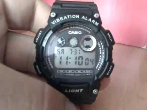 CASIO W735H-1AV8(Vibration Alarm)