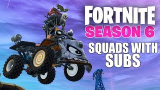 Squads with Subs - Fortnite Battle Royale Xbox One X Gameplay