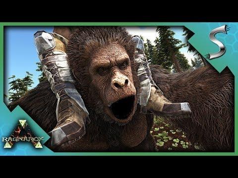 THE GREAT APE ADVENTURE! TAMING AND BREEDING GIGANTOPITHECUS! - Ark: RAGNAROK [DLC Gameplay S3E28]