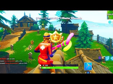 """""""Follow the treasure map found in Snobby Shores"""" Location Fortnite Season 5 Week 5 Challenges!"""