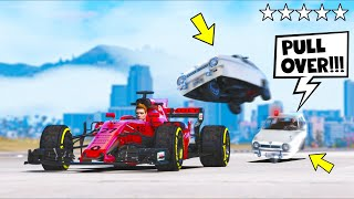 I replaced ALL police cars with Reliant Robins, now let's have some fun!! (GTA 5 Mods)