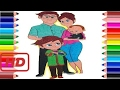 كيفية رسم والألوان مدرب الطفل دراموركس الرسوم المتحركة الملونة للأطفال إصبع الأس�