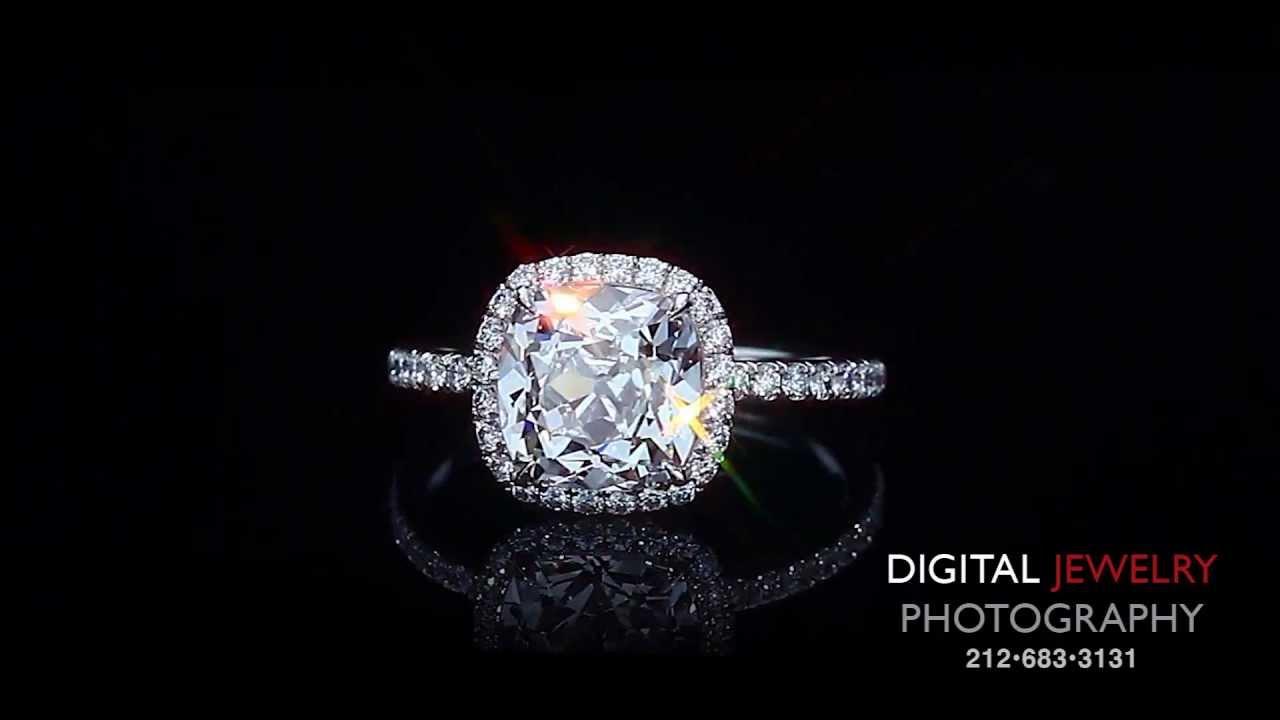 2ct Cushion Cut Diamond Halo Ring