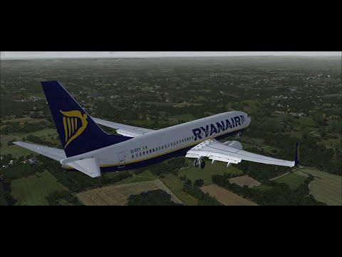 FSX PMDG 737NGX Dublin to Gatwick (RYANAIR) - VATSIM
