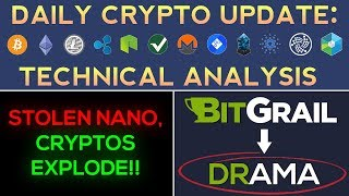 BitGrail Stolen Nano!!! Cryptos Regain Bullish Momentum! (Daily Update + Technical Analysis)