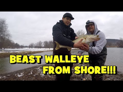 We Were AWED By A 10 YEAR OLD FISH!!! (GIANT WALLEYE) (Whitney Point, NY)