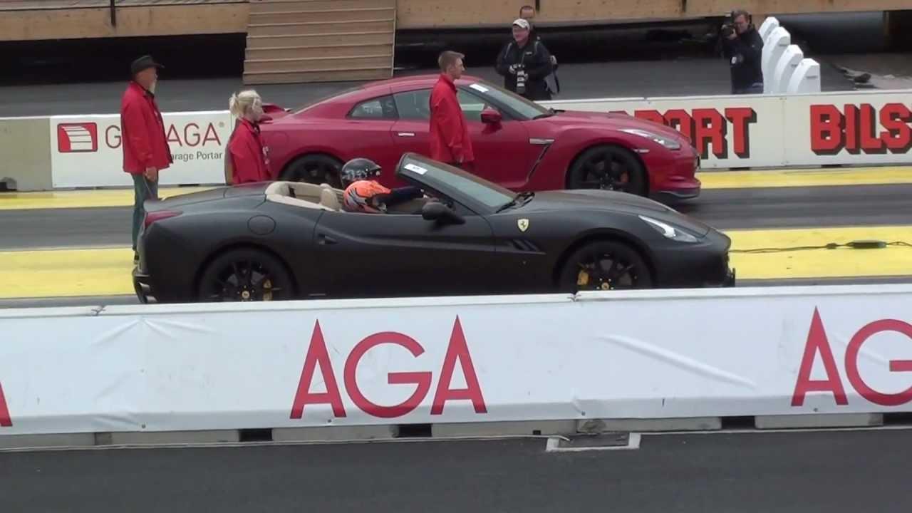 Nissan GTR vs Ferrari California - YouTube